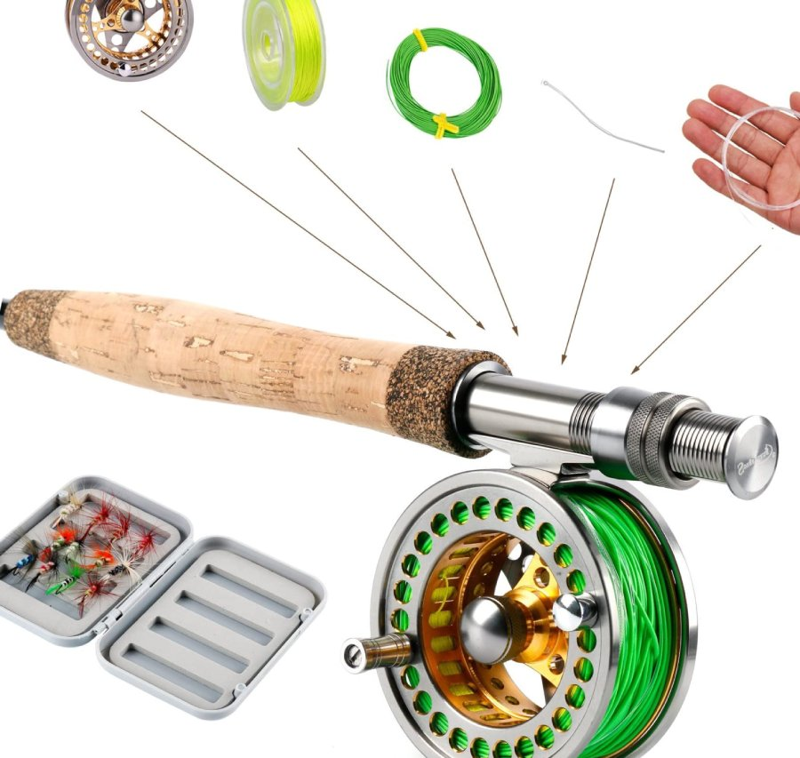 Sougayilang Fly Fishing Rod Reel Combos
